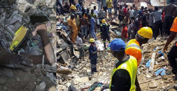 Woman reportedly commits suicide after losing two children in Lagos Building Collapse