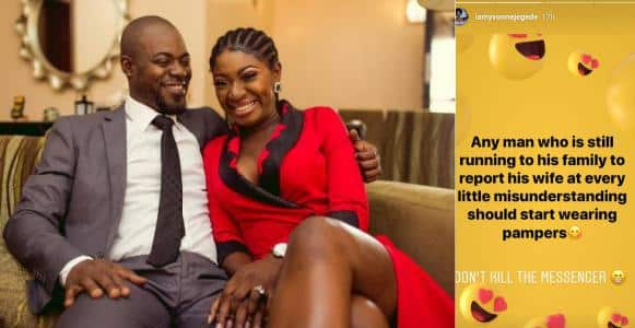 Yvonne Jegede slams men who report their wives to family members