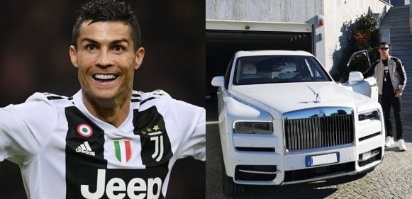 Cristiano Ronaldo shows off his new ride, a Rolls Royce Cullinan