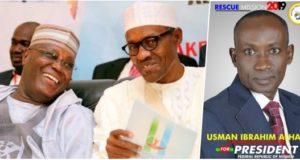 Mr Usman Ibrahim-Alhaji, the presidential candidate of the National Rescue Movement, Atiku, Buhari