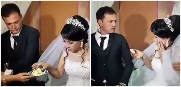 Shocking Moment Angry Groom Slapped His Bride At Their Wedding