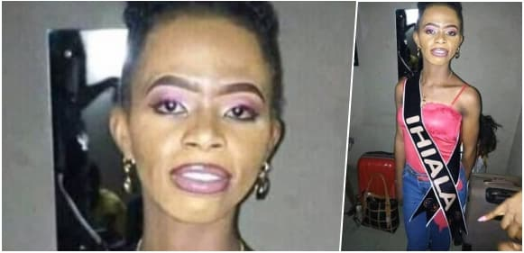 Hilarious reactions trail photo Of Miss Ihiala, Anambra Beauty Contestant