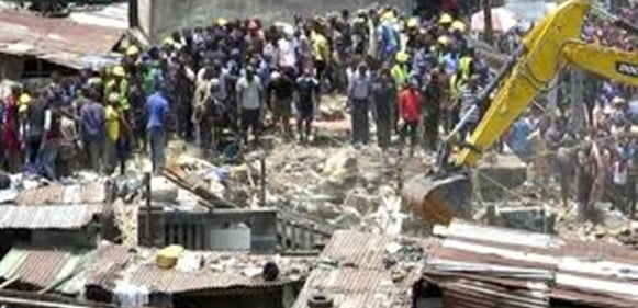 Lagos collapsed building was marked for demolition in 2018
