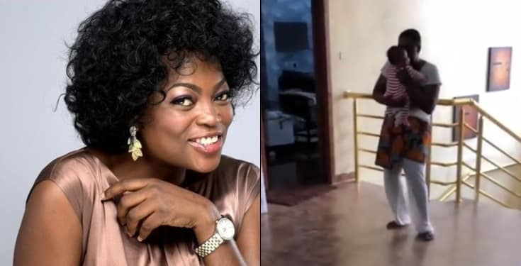 Video of Funke Akindele-Bello dancing with her twin sons