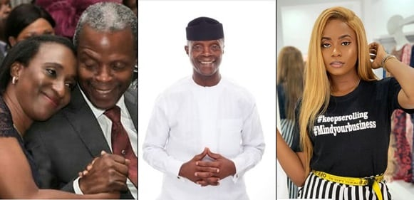 Vice President Osibanjo's Wife And Daughter Celebrates Him On His 62nd Birthday