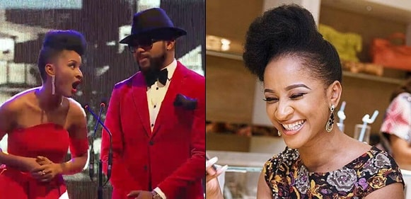 Adesua Etomi trolls her husband, Banky W Over His Artificial American Accent