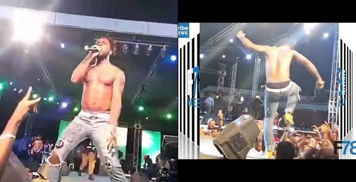 Burna Boy apologizes for kicking a fan who tried to rob him