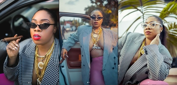 Moesha Boduong goes braless as she celebrates 29th birthday with raunchy photos