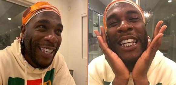 'My Mouth Feels Like A Freezer' - Burna Boy Shows Off New Set Of Teeth