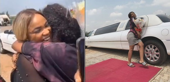 Iyabo Ojo Daughter's Gets A Limo And Flowers As Mother Throws Luxurious Party For Her