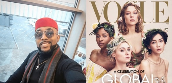"""Breaking news: My wife is on the cover of Vogue magazine"" Banky W gushes"