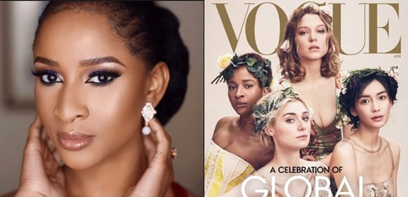 Adesua Etomi Can't Walk Down The Street In Lagos Without Getting Mobbed -Vogue Writes About The Actress