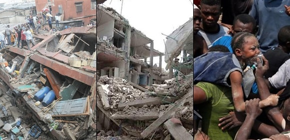 Lagos School Building: See before collapse and after the collapse photos