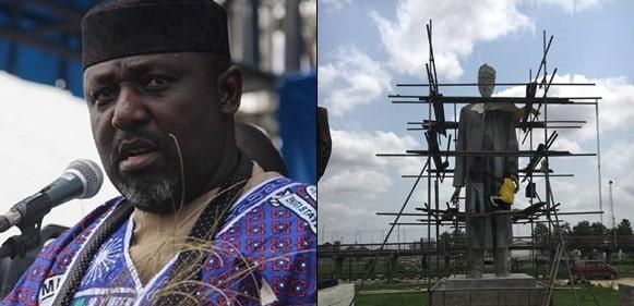 BBC mocks Gov. Okorocha as he erects Buhari-like statue in Owerri