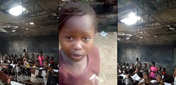 See the deplorable state of the school attended by the girl chased home for not paying school fees