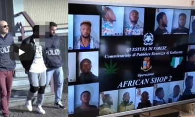 10 Nigerian Drug Dealers Busted By Police In Italy (Video)