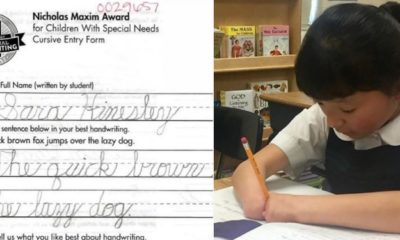 10-year-old girl without hands wins handwriting contest (Photos)