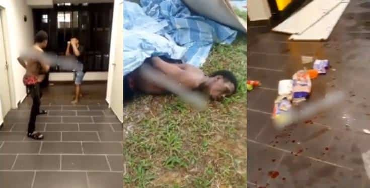 2 Nigerians fight over girls in Malaysia (video)