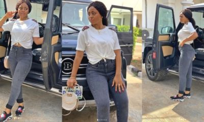 Actress Regina Daniels takes delivery of her new Brabus (Photos)