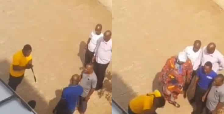 Angry dad storms Babcock University to flog his son for wasting his money (Video)