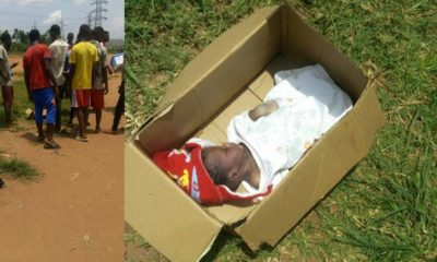 Body of a baby found dumped beside an Anglican church in Anambra (Photos)