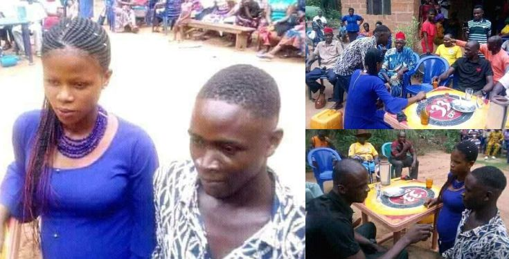 Boy forced to marry teenage girl he Impregnated In Anambra (Photos)