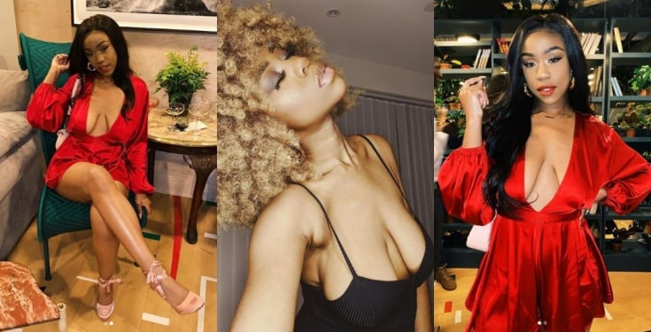 Founder of #SaggyBoobsMatter, Chidera, slays in braless red dress (Photos)