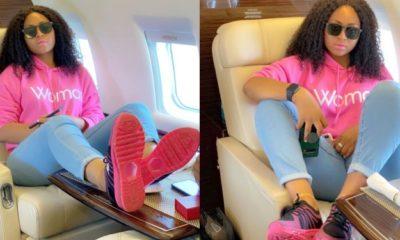 I'm a boss in the making – Regina Daniels says aboard private jet