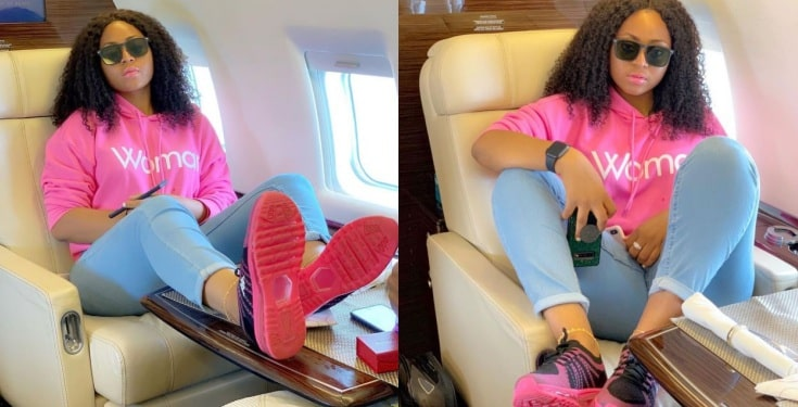 I'm a boss in the making – Regina Daniels says aboard private jet