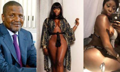 """I love him"" - Curvy model, Symbas says Alh. Aliko Dangote is her crush"