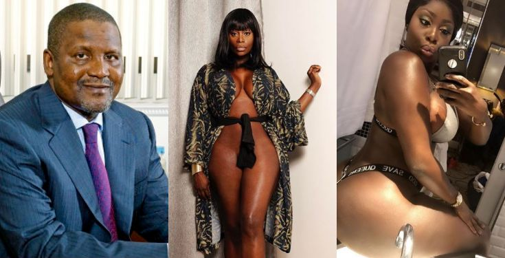 """I love him"" - Curvy model, Symbas says Alh. Aliko Dangote is her crush"