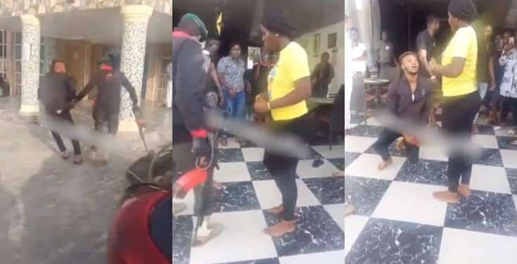 Man fakes police arrest to propose to his girlfriend in Delta State (Video)