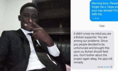 Man loses ₦3.4 million contract for being a President Buhari supporter