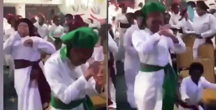 Man of God and members filmed doing the Zanku/legwork dance in church
