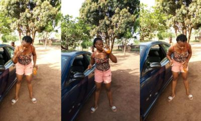 Nigerian Lady brushes teeth with a bottle of Fanta (Photos)