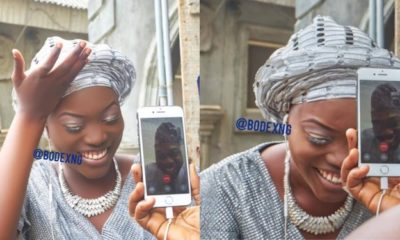 Nigerian lady gets married to her US based man via video call