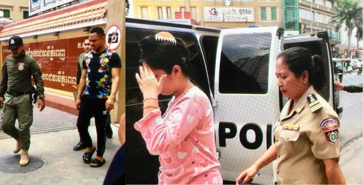 Nigerian man and his foreign wife arrested in Cambodia for fraud (Photos)