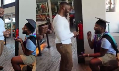 Nigerian man gets down on one knee to propose to boyfriend (Video)