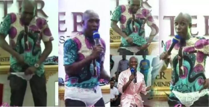 Pastor wears panties in church to lecture married women (Video)