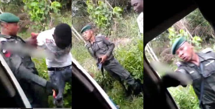 "Policeman destroys DELSU student's phone for being too ""expensive"" (Video)"