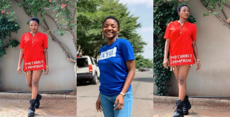 Singer Simi shaves her hair and she looks cute
