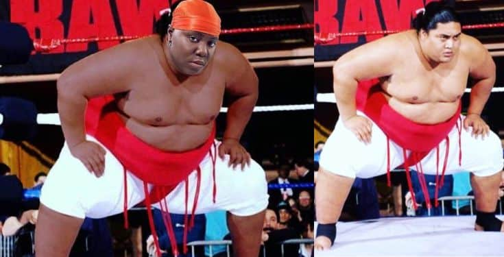 Singer Teni reacts after being photoshopped as wrestler, Yokozuna
