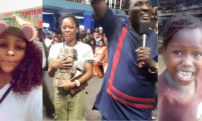 Stephanie Idolor gets N2million cash from Prophet Fufeyin (Video)