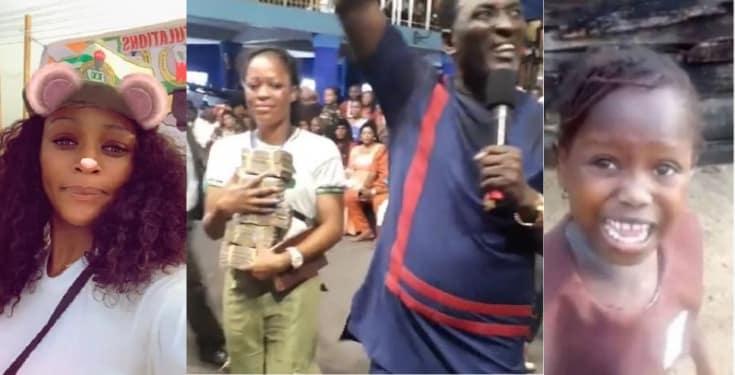 Stephanie Idolor gets N2million cash from Prophet Fufeyin (Video)