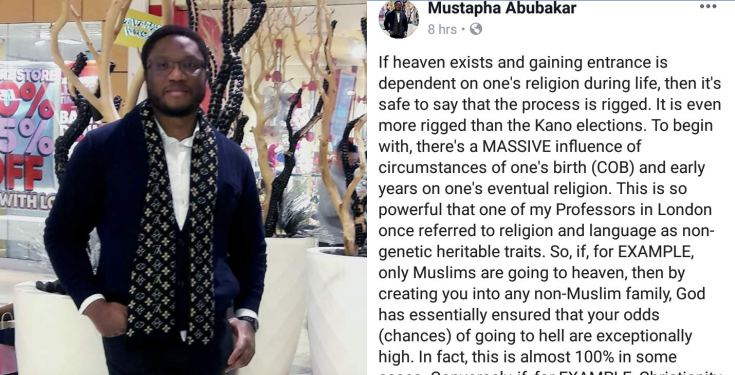 'The process of gaining entrance into heaven is rigged' - Nigerian man