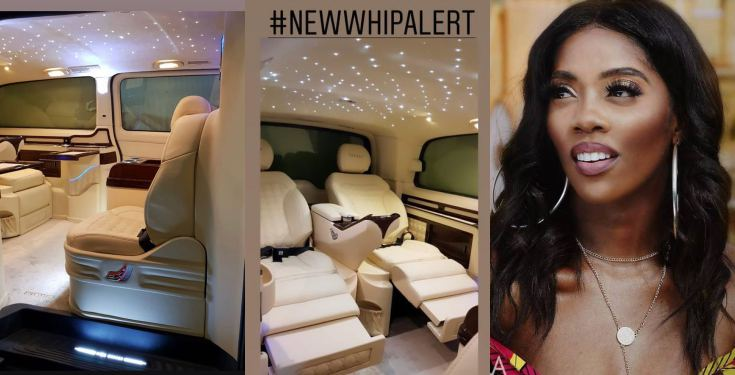 Tiwa Savage spoils herself with a customised car (Video)