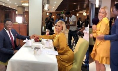 Tonto Dikeh goes on a date with Daniel Amokachi (Video)