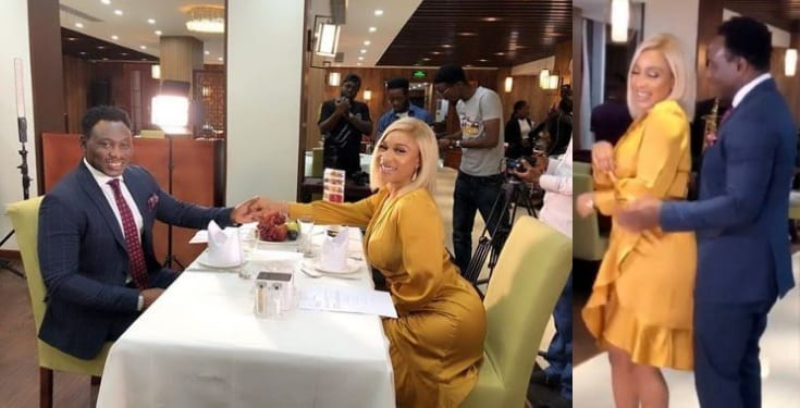 Tonto Dikeh goes on a date with Daniel Amokachi (Video)