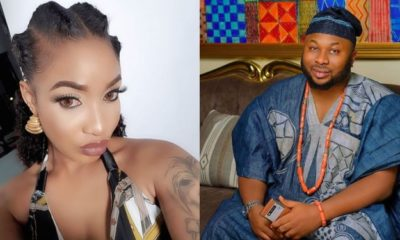 Tonto Dikeh question a fan who wrote her estranged husband's name on her post