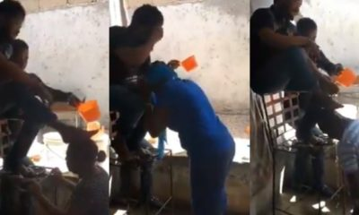 Video shows a pastor washing his legs on the head of his members